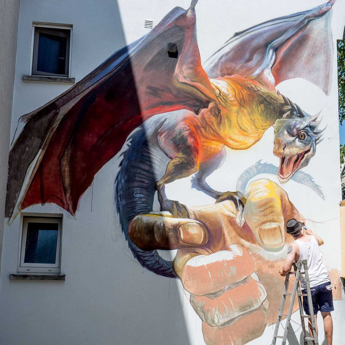 Graffiti in Bad Vilbel 2018 - Game of Thrones by Case